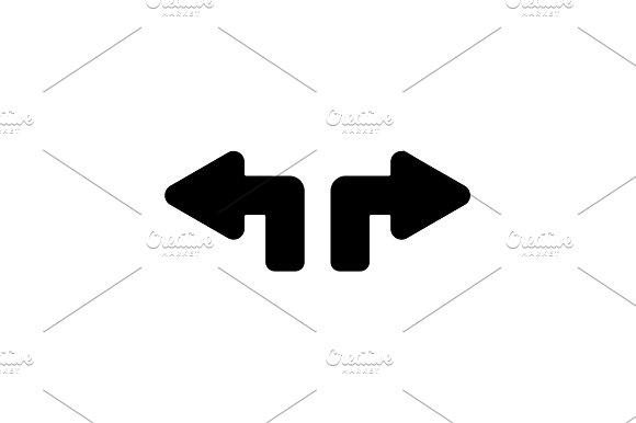icon. Arrows