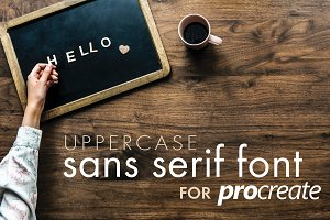 Procreate Sans Serif Type Kit 1