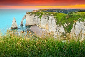 Amazing coastline in France