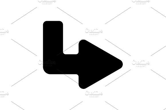 Web line icon. Arrow up - right