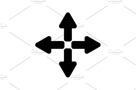 icon. Arrows (left, right, up, down)