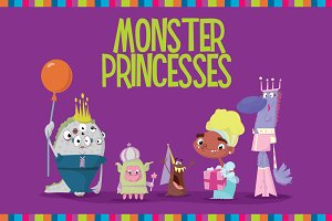 50% off! Monster Princess Vectors
