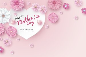 Mother's day card concept design