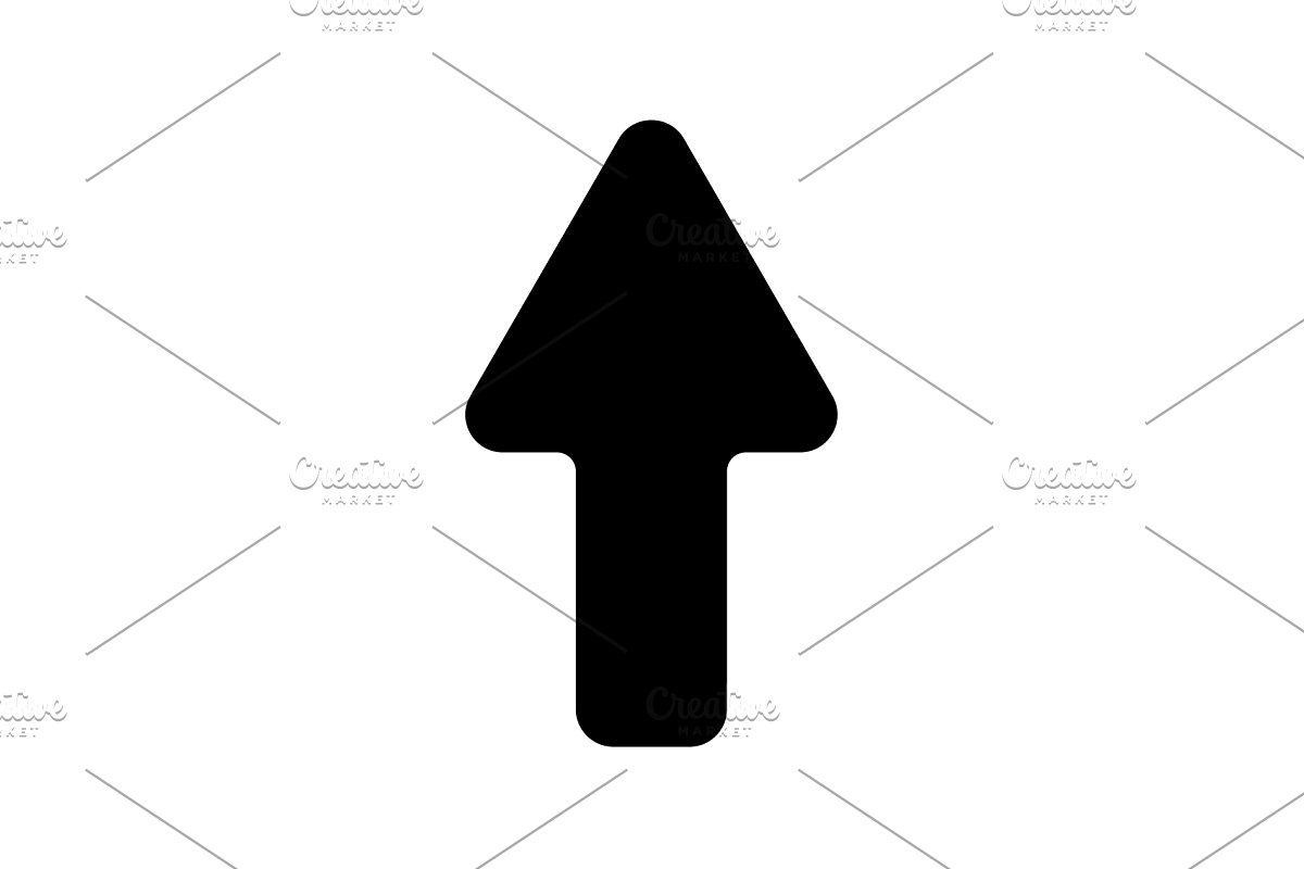 Web line icon. Arrow up black  in Graphics - product preview 8