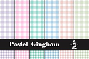 Pastel Gingham Patterns