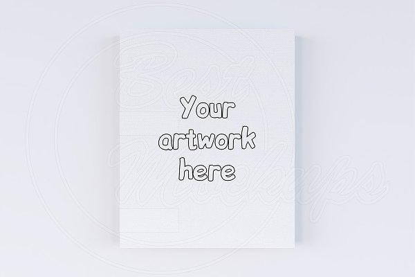CREATOR canvas mock up 8x10 inch
