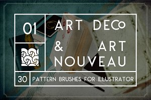 Art Deco & Art Nouveau Brushes