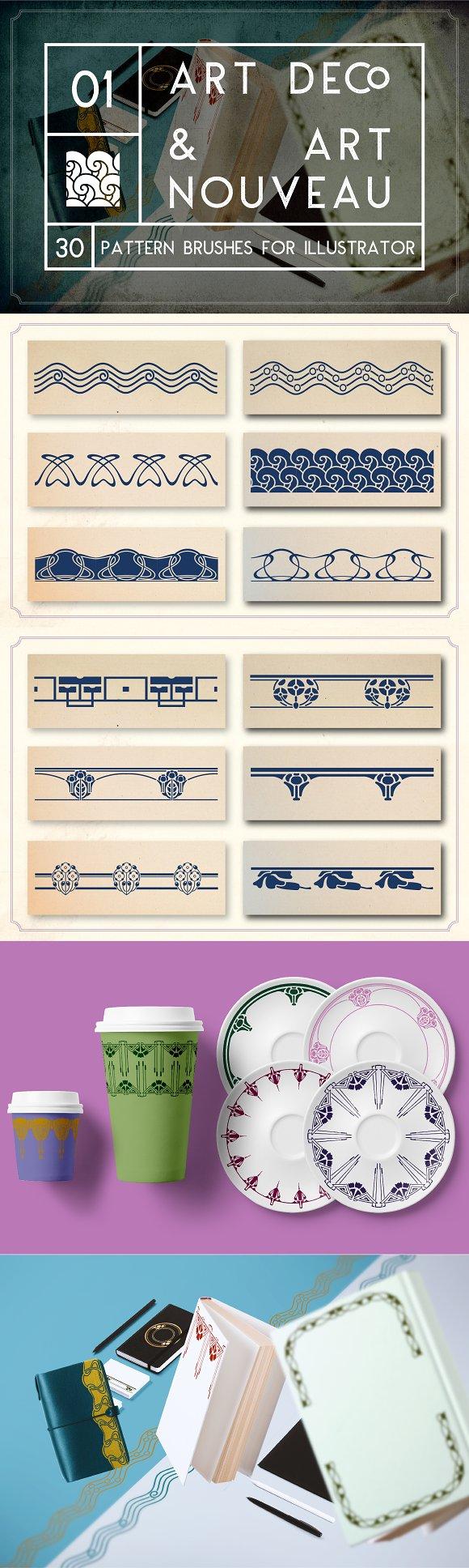 Art Deco Art Nouveau Brushes