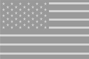 American flag gray