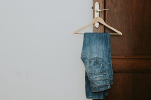 jeans, clothes and casual fashion