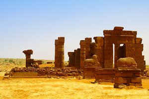Ruins of Naqa Meroe, ancient Kush Sudan