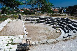 View to theater ruin at Byblos, Lebanon