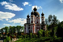 Exterior view to Curchi orthodox monastery, Orhei, Moldova by Sergey mayorov in Architecture