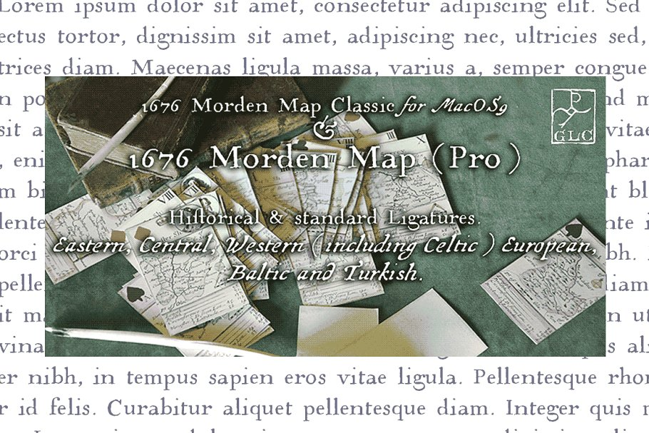 1676 Morden Map Pro OTF in Serif Fonts - product preview 8