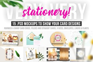 Very, Very Stationery! Card Mockups