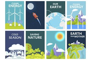 Clean Energy and Save Earth Our Mother Posters
