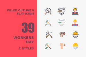 Workers Day Icons