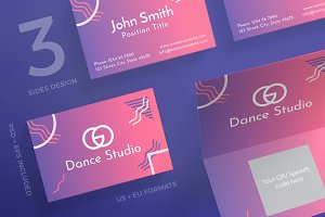 Business Cards | Dance Lessons Studi
