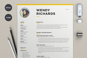 2 Pages resume & Cover