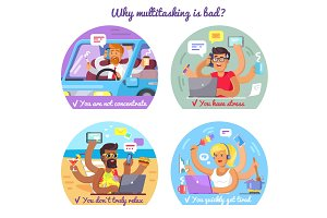 Why Multitasking Is Bad Poster with Some Reasons