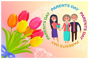 Congratulation Card Dedicated to Parents' Day