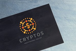 Crypto Digital Coin Logo