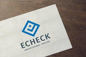 Echeck - Letter E Logo