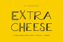 Extra Cheese Font Set - Only $7!