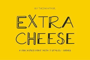 Extra Cheese Font Set - Only $5!