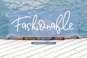 15%  Fashionable Duo Font & Illustr.
