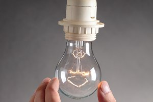 Changing a light bulb