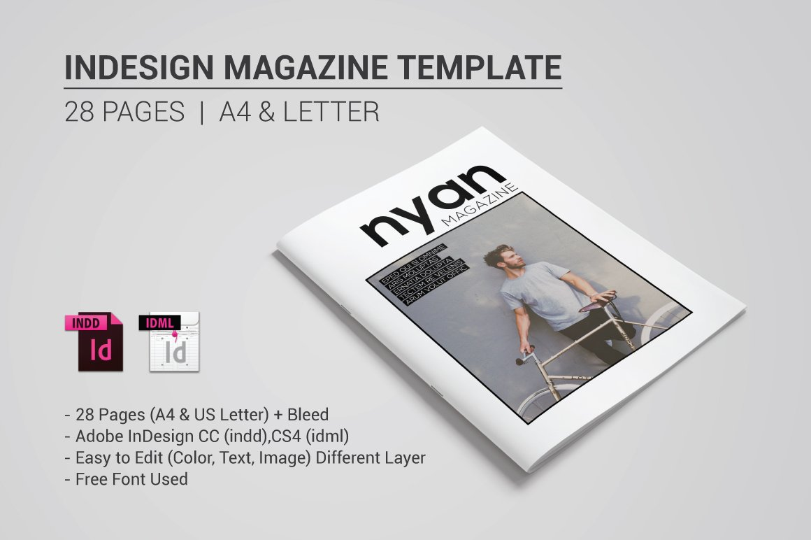 Indesign magazine template magazine templates creative for E magazine templates free download
