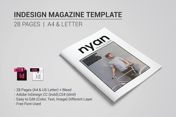 Indesign Magazine Template ~ Magazine Templates ~ Creative Market