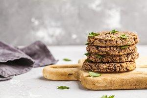 Vegan black beans cutlets (burgers)