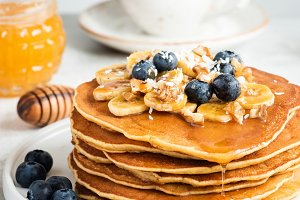 Stack of Pancakes, Tasty Breakfast!