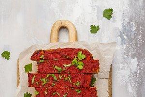 Vegetarian lentil casserole