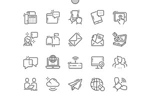 Communication Line Icons