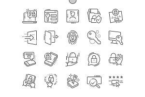 Login Line Icons