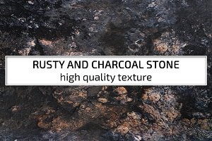 Rusty and charcoal stone