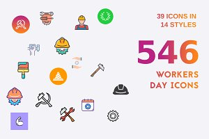 Workers Day Icon Bundle