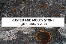 Rusted and moldy stone