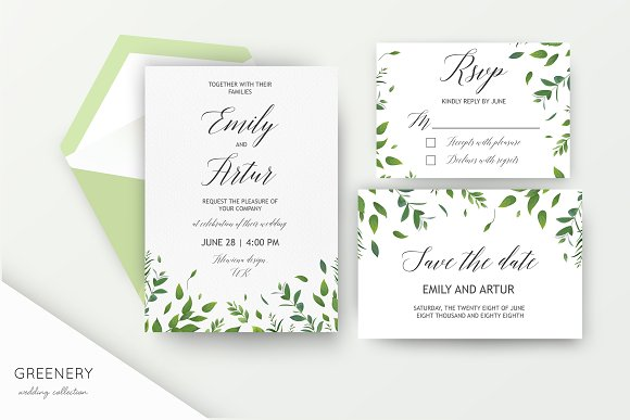 Wedding collection - Greenery
