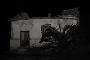 Abandoned House At Night