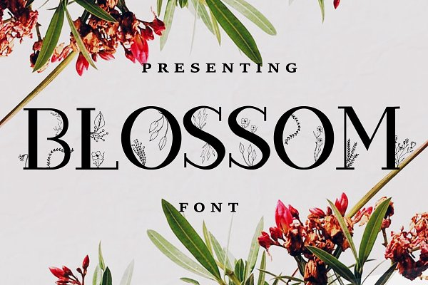 Slab Serif Fonts: Chimerique - Blossom Font + EXTRAS