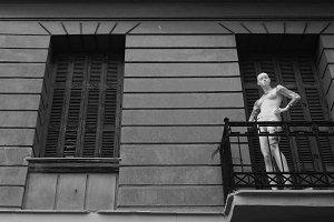 Mannequin Abandoned House Balcony