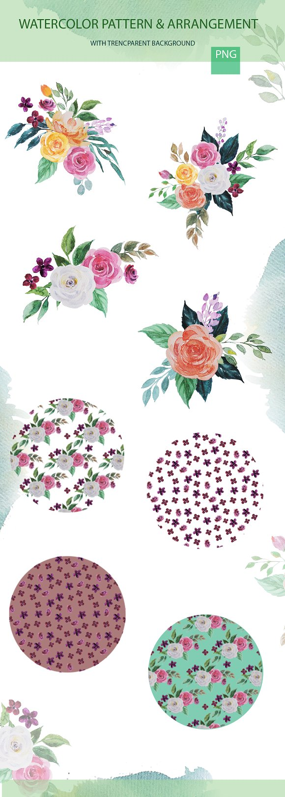 Wedding Watercolor Invitation card  in Illustrations - product preview 1