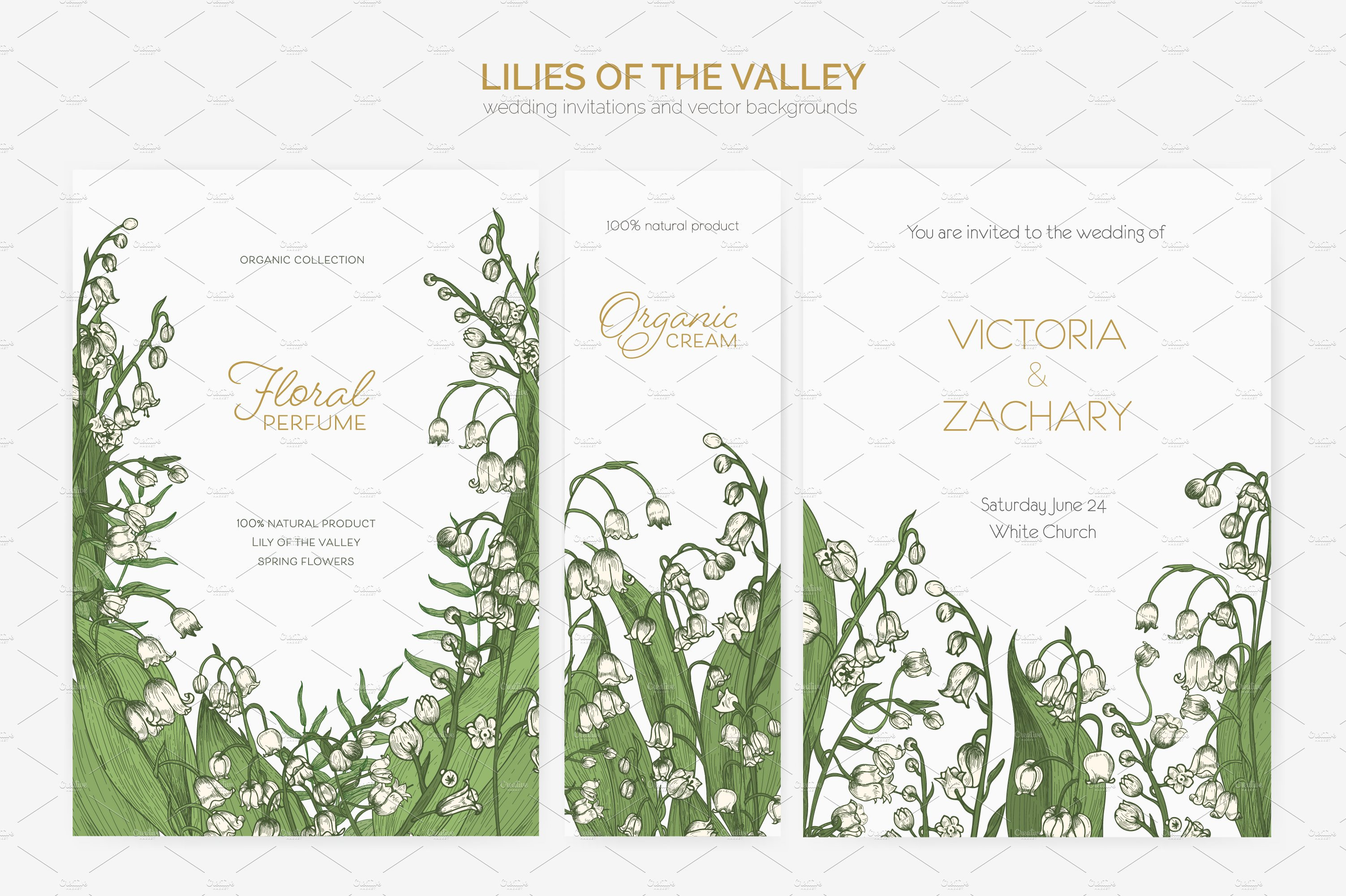 Lily of the valley flowers-backdrop ~ Illustrations ~ Creative Market