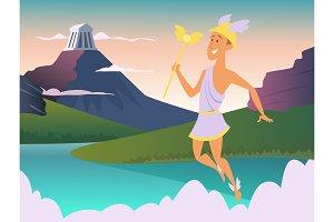 Hermes. Greek god of trade