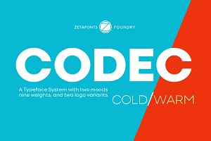 Codec - 44 fonts 70% off!