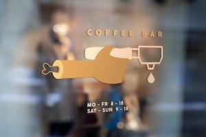 Coffee bar logo template